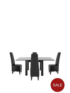 gloss-square-to-rectangle-table-amp-4-new-manhattan-dining-chairs-buy-and-save
