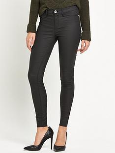 river-island-river-island-short-leg-coated-skinny-jeans