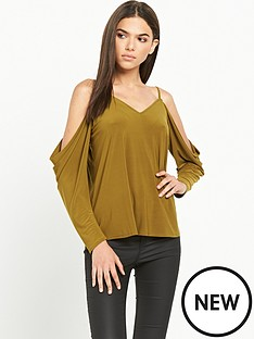river-island-long-sleeve-cold-shoulder-top