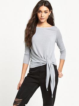 river-island-tie-front-lightweight-knit