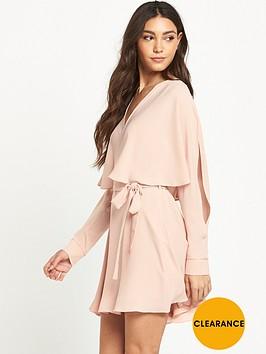 river-island-long-sleeve-cape-dress