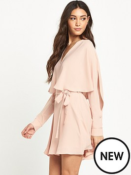 river-island-long-sleeve-cape-dress