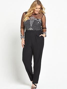 little-mistress-curve-long-sleeve-lace-jumpsuit-black