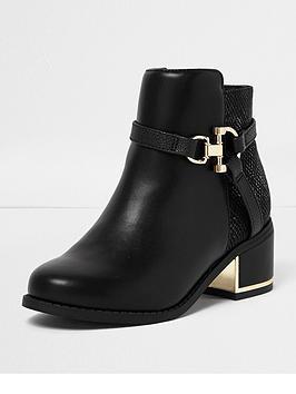 river-island-girls-block-heel-bootsnbspwith-gold-snaffle