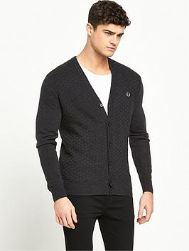fred-perry-oxford-texture-cardigan
