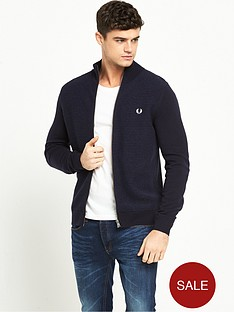 fred-perry-textured-stripe-zip-cardigan