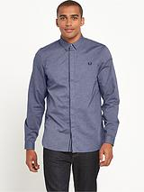 Concealed Placket Long Sleeve Shirt