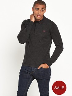 fred-perry-tramline-tipped-knitted-long-sleeve-polo