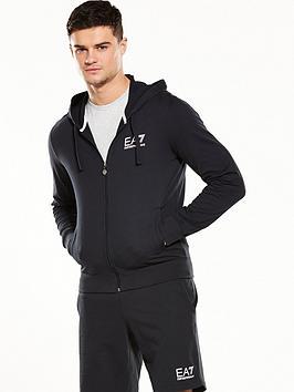 Emporio Armani Ea7 Logo Fleece Full Zip Hoody