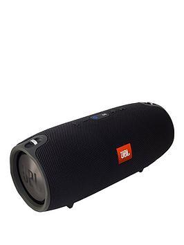 Jbl Xtreme Large Splashproof Portable Bluetooth Speaker With Carry Strap  Black