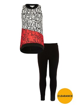 river-island-girls-black-print-trapeze-top-and-leggings-set