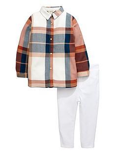 river-island-mini-girls-check-shirt-and-leggings-set