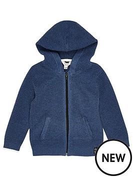 river-island-mini-mini-boys-blue-textured-hoodie