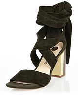 RIVER ISLAND FELLY SUEDE TIE UP SHOE BOOT