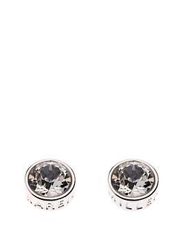 Karen Millen Karen Millen Silver Logo Stud Earrings Made With Swarovski Elements