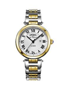 rotary-swiss-lucerne-silver-tone-roman-numerial-dial-two-tone-stainless-steel-mens-watch