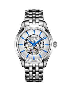 rotary-rotary-mecanique-silver-tone-stainless-steel-bracelet-mens-watch
