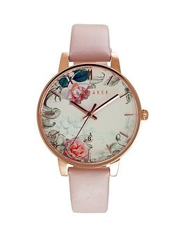 ted-baker-ted-baker-floral-dial-pink-leather-strap-ladies-watch