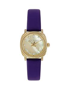 ted-baker-ted-baker-mother-of-pearl-dial-gold-tone-coin-case-purple-strap-ladies-watch