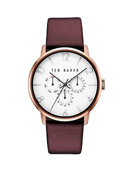 ted-baker-ted-baker-white-dial-burgundy-leather-strap-mens-watch