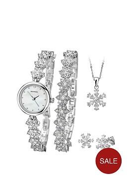sekonda-silver-tone-snowflake-watch-bracelet-pendant-and-earring-gift-set