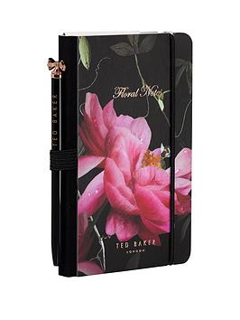 ted-baker-ted-baker-black-citrus-bloom-mini-notebook-amp-pen