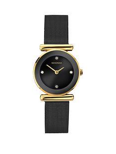 sekonda-black-dial-black-stainless-steel-mesh-ladies-watch