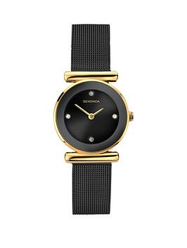 sekonda-black-dial-black-stainless-steel-mesh-ladies-watch