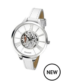 sekonda-skeleton-dial-white-leather-strap-ladies-watch