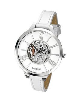 sekonda-skeleton-dial-white-leather-strap-ladies-watch