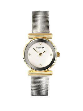 sekonda-white-dial-silver-tone-mesh-ladies-watch