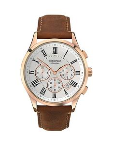 sekonda-white-dial-rose-tone-case-brown-leather-strap-mens-watch