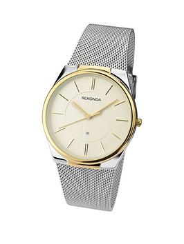 sekonda-cream-dial-silver-tone-stainless-steel-mesh-mens-watch