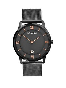 sekonda-black-date-dial-black-stainless-steel-mesh-mens-watch