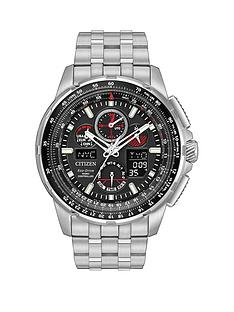 citizen-citizen-eco-drive-skyhawk-at-radio-controlled-black-dial-stainless-steel-bracelet-mens-watch