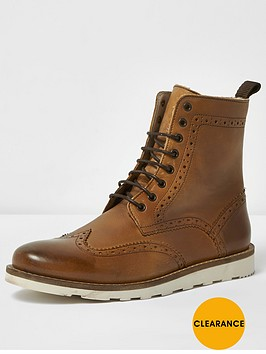 river-island-leather-brogue-boot