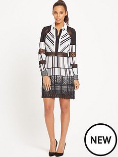 rochelle-humes-stripe-tunic-lace-insertnbspdress