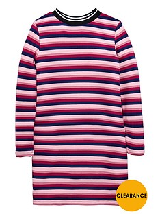 v-by-very-girls-striped-ribbed-dress