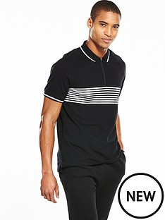 v-by-very-short-sleeve-tech-zip-polo