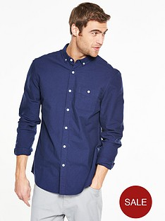 v-by-very-long-sleeve-brushed-oxford-shirt-navy