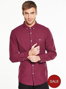 v-by-very-long-sleeve-brushed-oxford-shirt-burgundy