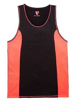 V By Very Girls Neon Sports Vest And Crop Top Set