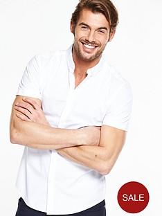 v-by-very-short-sleeve-poplin-shirt