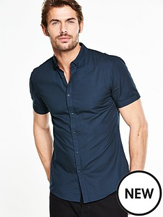 v-by-very-short-sleeve-poplin-shirt