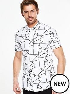 v-by-very-short-sleeve-geometric-shirt