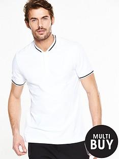 v-by-very-short-sleeve-baseball-collar-polo