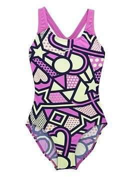 Speedo Speedo Girls Solar Tribe Allover Splashback Swimsuit