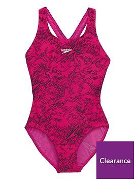 speedo-girls-boom-allover-splashback-swimsuit-pinkblacknbsp