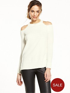 river-island-cold-shoulder-jumper-cream