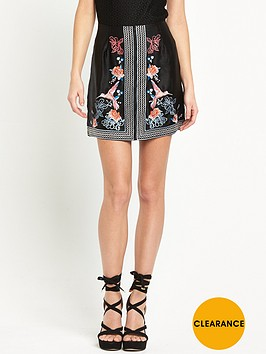 river-island-embroidered-mini-skirt-black